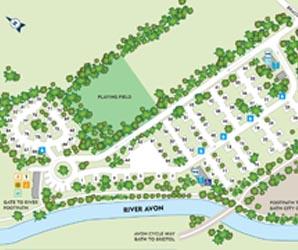 Bath Caravan Park map